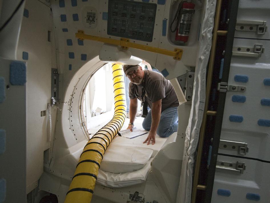 Inside the shuttle